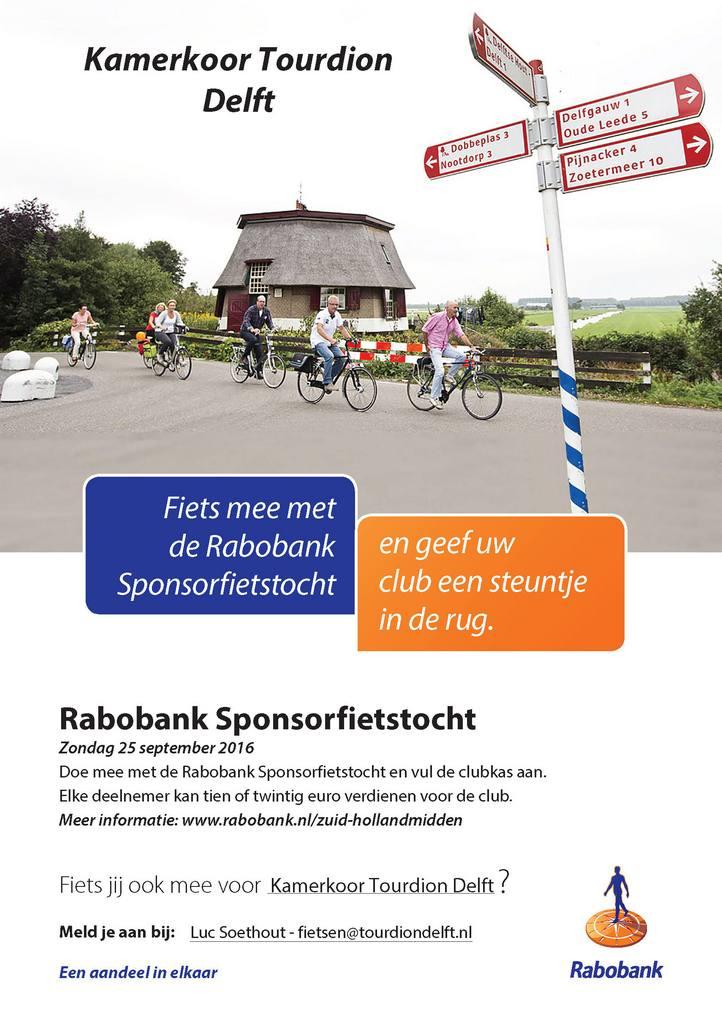 Flyer fietssponsortocht 2016